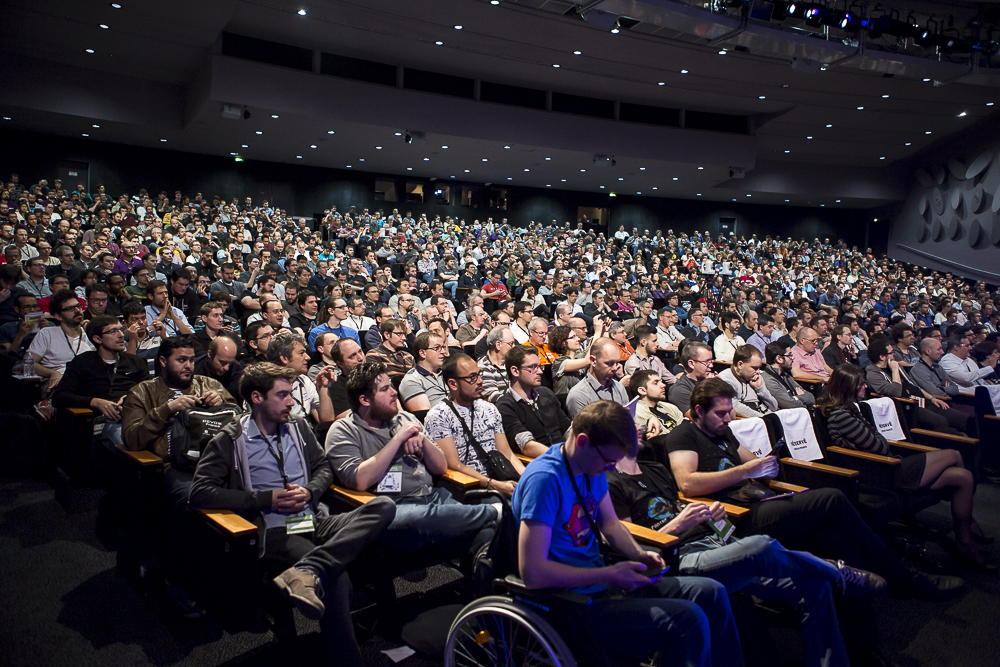 Audience at conference. Photo: DevoxxFR