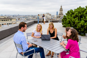 Typical meeting on our rooftop. Photo credits: Sylvain Cambron Cbre ID